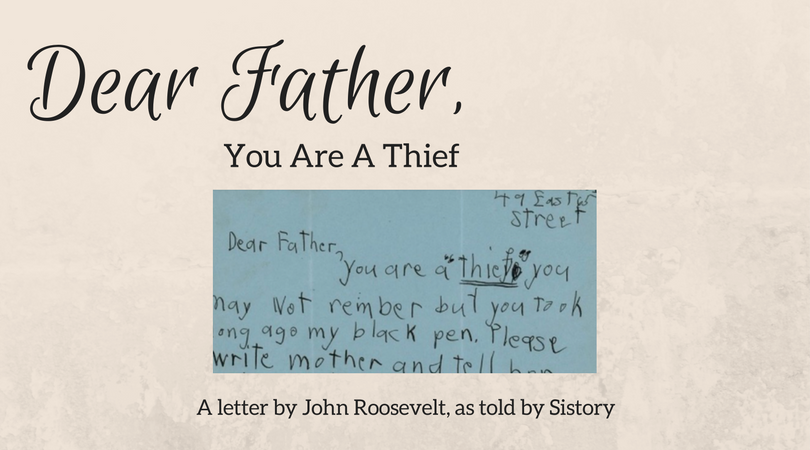 Dear Father, You Are A Thief